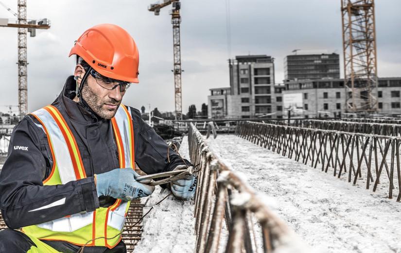 Ассортимент средств защиты uvex, спроектированный специально для строительной отрасли