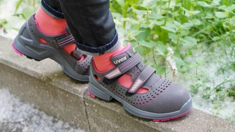 Летние защитные сандалии uvex 1 леди S1. Жара. Июнь