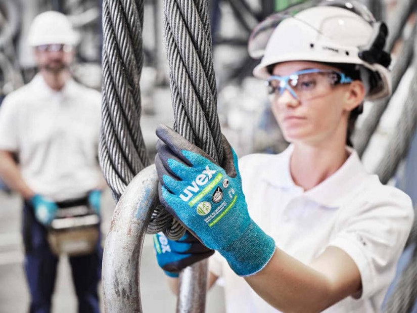 Перчатки для защиты от порезов из бамбуковых волокон - uvex Bamboo TwinFlex